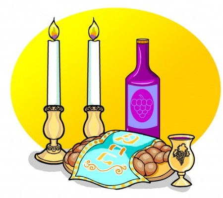 Shabbat Items with Background